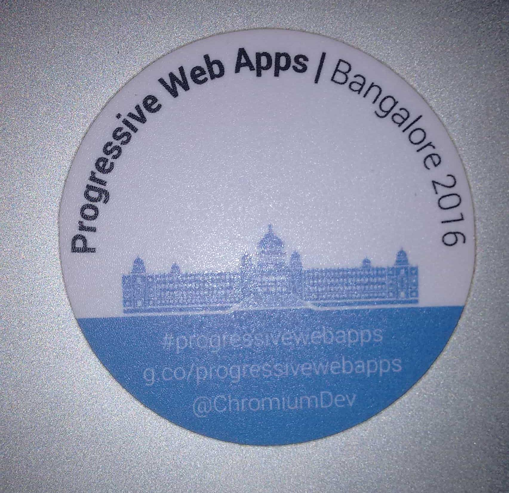 PWA Bangalore Sticker